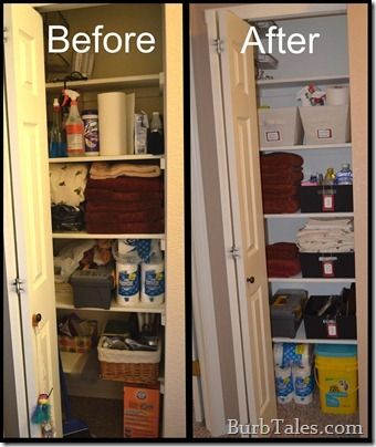 A small but organized linen closet and I still think my closet is smaller  than this