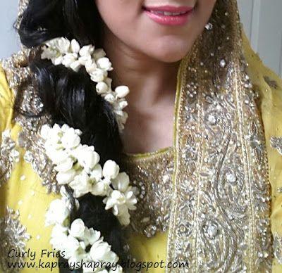Jasmine flowers for mehndi hair
