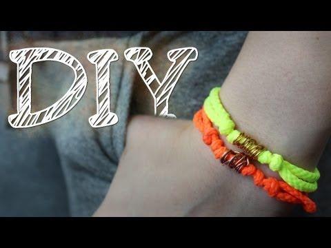DIY einfaches Knotenarmband mit Metalldrahtperle - neue Verschlusstechnik - YouTube