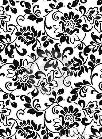 Image By On Designs Black And White Vintage Floral Pattern Art Nouveau Illustration