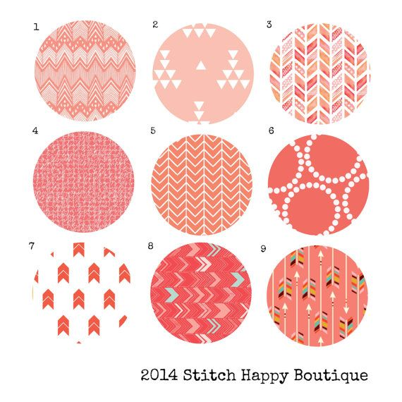 Custom Color Choice Coral Fabric 2 for by StitchHappyBoutique, $1.00