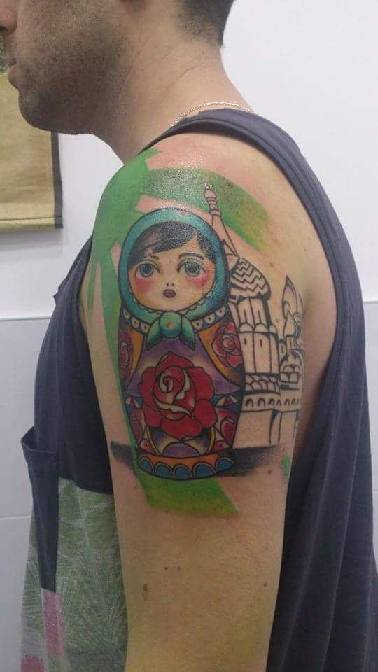 Tatuaje de muñeca rusa realizado en nuestro centro de Parquesur de Madrid.    #tattoo #tattoos #tattooed #tattooing #tattooist #tattooart #tattooshop #tattoolife #tattooartist #tattoodesign #tattooedgirls #tattoosketch #tattooideas #tattoooftheday #tattooer #tattoogirl #tattooink #tattoolove #tattootime #tattooflash #tattooedgirl #tattooedmen #tattooaddict#tattoostudio #tattoolover #tattoolovers #tattooedwomen#tattooedlife #tattoostyle #tatuajes #tatuajesmadrid #ink #inktober #inktattoo