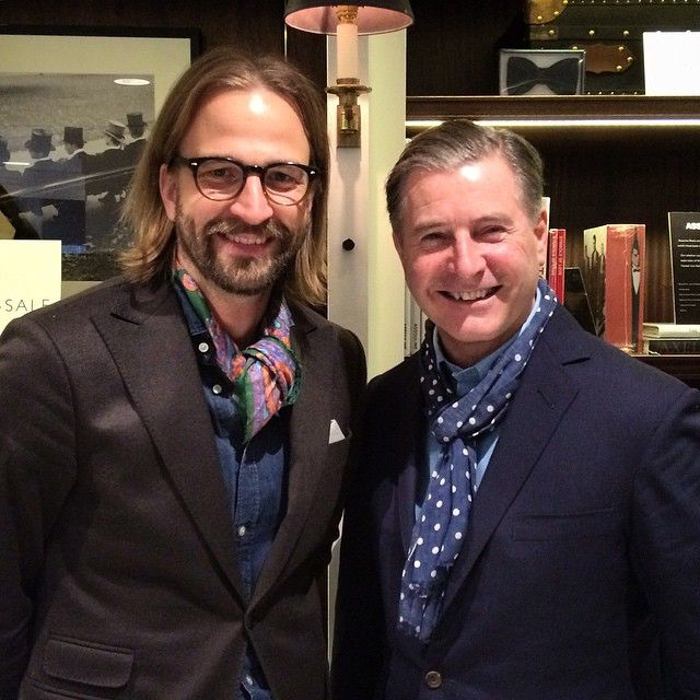 Editor in chief @konradolsson met with legendary designer Jeremy Hackett yesterday.  #hackett #plazauomo @hackettlondon @plazauomo #lcm #londoncollections #londoncollectionsmen #sslf #suit #bespoke #tailoring #menswear #menstyle #jeremyhackett