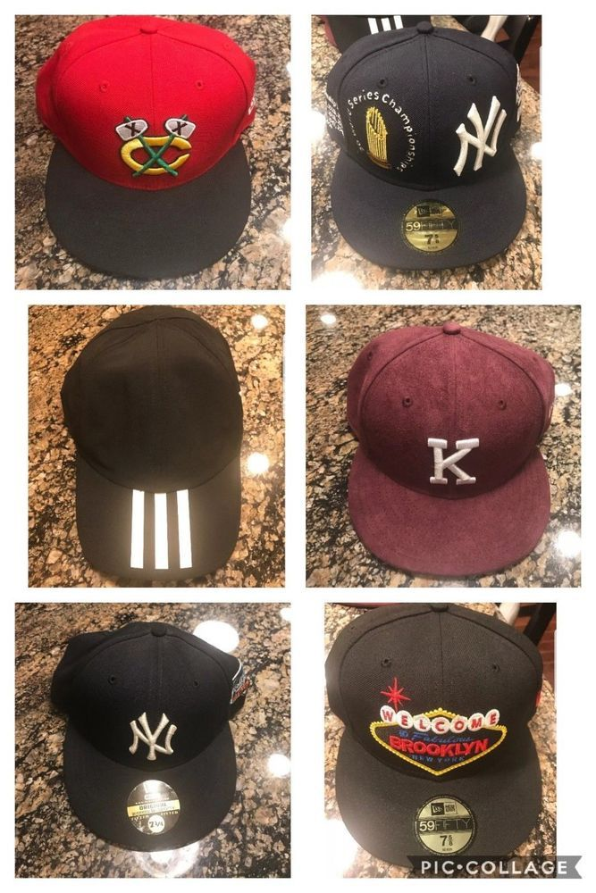 4e9ff8d0c83 New Era Hats Yankees Blackhawks Fitted Snapback New Pre owned Kith Banned  Nike  KITH