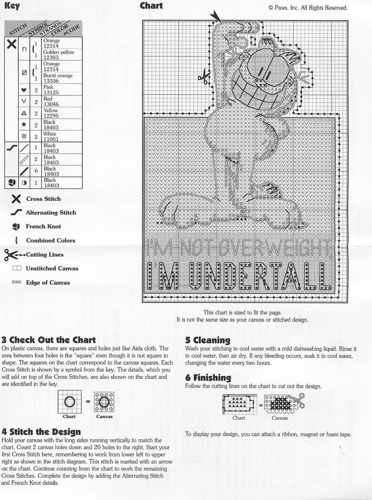 Garfield Cross-stitch Chart