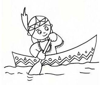 Indiánske omalovánky | Online Omalovánky k vytisknutí