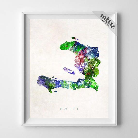 Haiti Map Print, Port Au Prince Print, Haiti Poster, Port-au-Prince, Map Art, Travel Poster, Wall Art, Watercolor Painting, Gift For Him, Wall Art. PRICES FROM $9.95. CLICK PHOTO FOR DETAILS.#inkistprints #map #watercolor #watercolour #giftforher #homedecor #nursery #wallart #walldecor #poster #print #christmas #christmasgift #weddinggift #nurserydecor #mothersdaygift #fathersdaygift #babygift #valentinesdaygift #dorm #decor #livingroom #bedroom