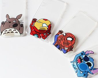 Totoro iphone 6 case/ iron man iphone 6 case/ spiderman iphone 6 case/ Stitch iphone 6 case/  studio ghibli/ iPhone 6 cover - 1pc