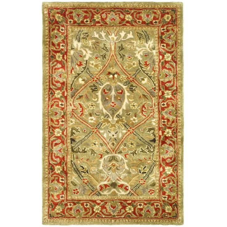 Safavieh Persian Legend Light Green/Rust 2 ft. 6 in. x 4 ft. Area Rug - PL819B-24 - The Home Depot