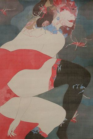 Artist - Bui Tien Tuan Title - Dance Dimension - 60cm x 90cm Media - Pen and Ink, Watercolor on Silk Status - Private Collection Indiana