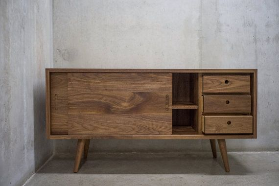 Solid Black Walnut Sideboard/ Credenza by solidwoodlimited on Etsy ... looks great but costs more than our tv! :P