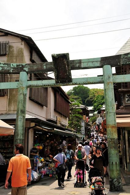 Tori Gate, enoshima, japan