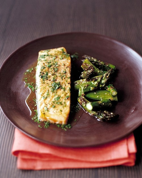 Roasted Salmon with Lime and Cilantro