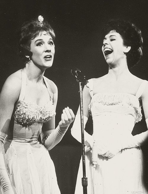 Julie Andrews and Carol Burnett performing live at Carnegie Hall, 1962.