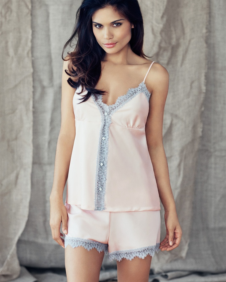 This pajama set is so sweet and delicate- plus I love sleeping in satin