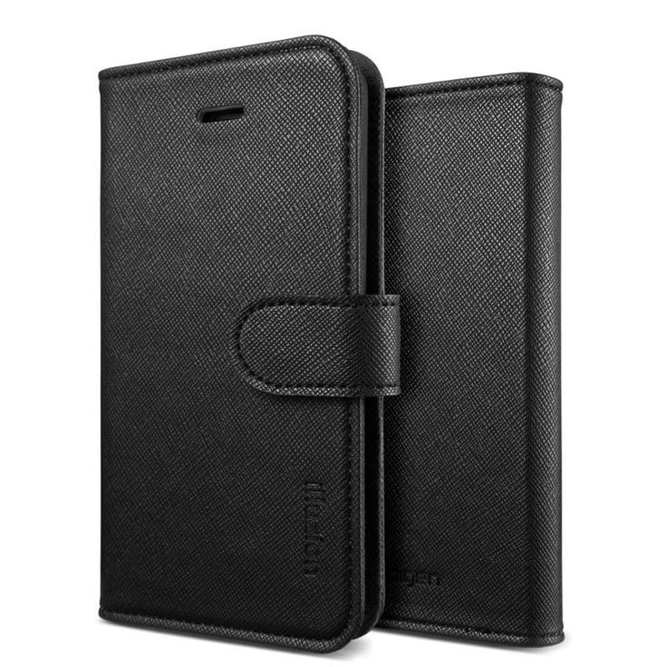 SPIGEN SGP iPhone 5 Leather Wallet Case illuzion Zen Black