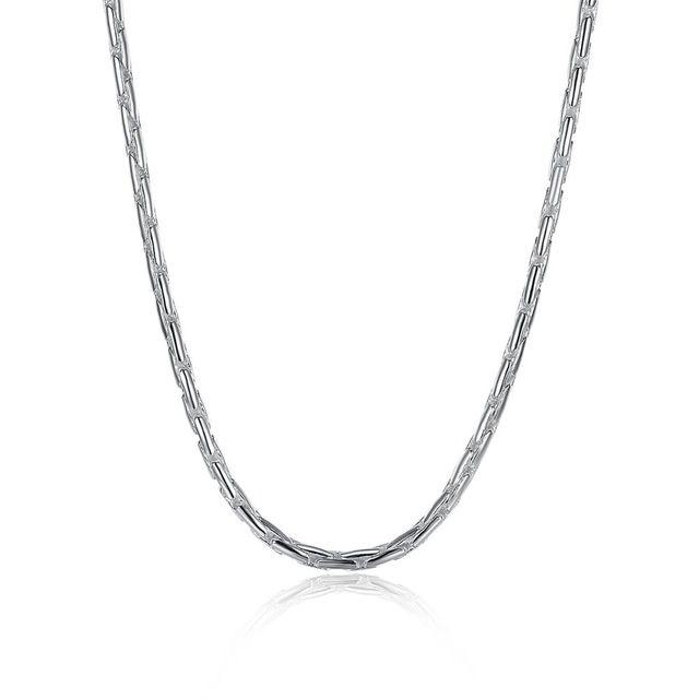Оптовая и Повседневная Серебряный Совместное Тела Цепи 20 inch Длинное Ожерелье Для Мужчин Помолвки Bijoux Homme Chaine Серебро Ювелирные Изделия