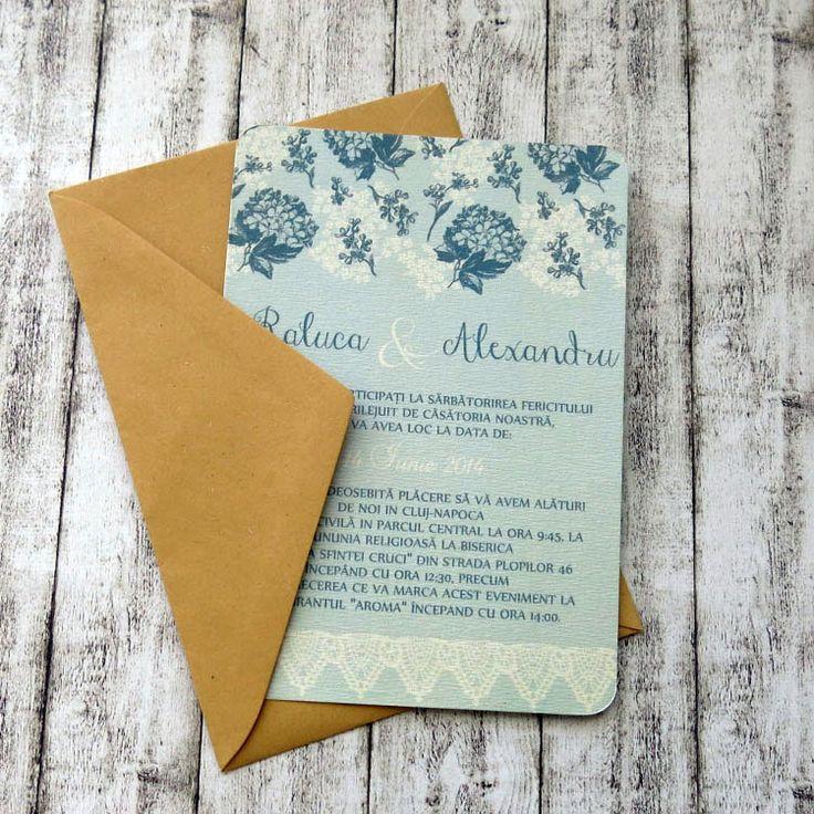 Invitaţie de nuntă Alice http://designbyclarice.ro/