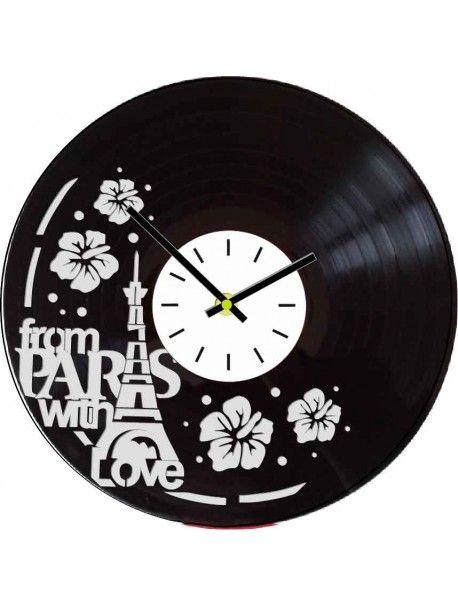 Stylové a originální hodiny na zeď jsou vyrobeny ze staré vinylové desky. Nástěnné hodiny jsou vhodnou dekorací na každou stěnu. Retro styl je nyní v módě. Překvapte své blízké a darujte jim hodiny z naší nabídky.    Technické informace. * Velikost: 30cm * Materiál: Vinyl * Barva: černá * Strojek hodin: Quartz, tichý a plynulý chod ručiček bez tikání * Předepsané baterie: napájení 1x baterie AA 1,5 volt * Počet baterií: 1 x baterie je součástí balení * Způsob výroby: vyřezávání laserem…
