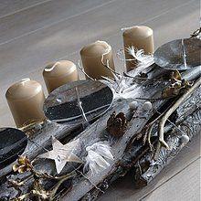 Dekorácie - adventní svícen..stříbrný - 3393213