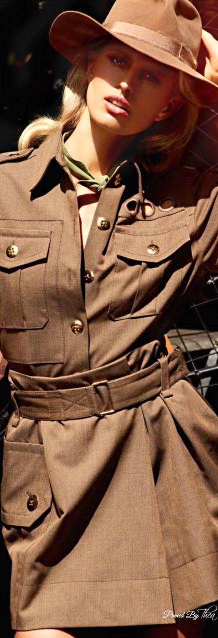 Safari Brown Cotton Jacket 2015