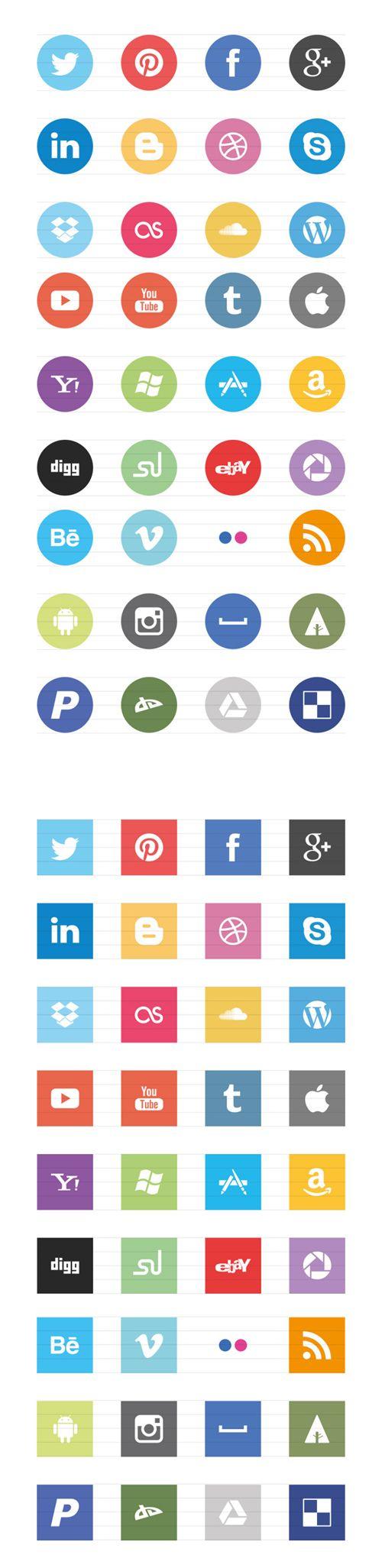 Free Flat Elements for Interface Design | Graphics Design | Design Blog #design