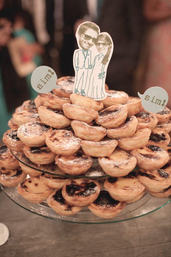 ADORO: Bolo de casamento de Pasteis de nata // Portuguese custard tart wedding cake
