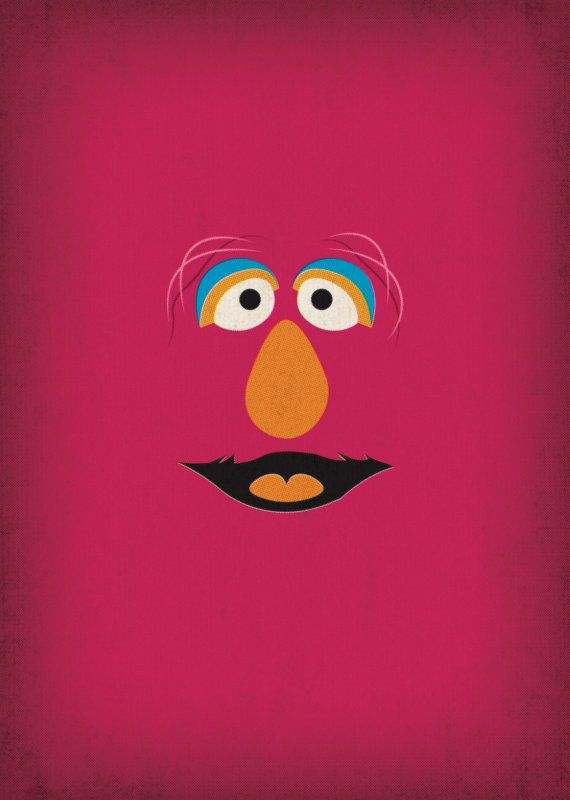 Sesame Street Character Telly Monster Minimalist by TheRetroInc