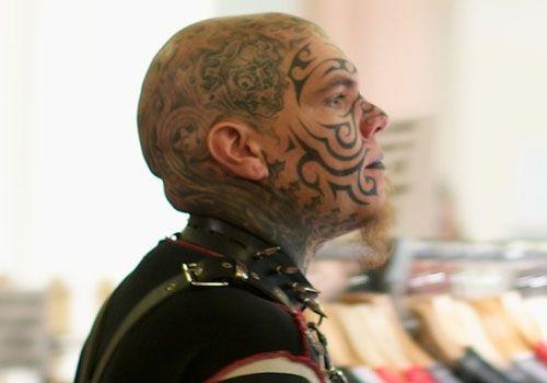 full-face ~ http://heledis.com/beautiful-face-tattoo-designs/