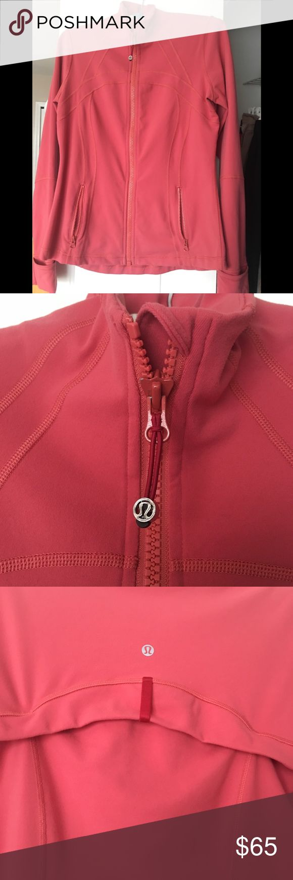 lululemon Zip Up Dark Peach color Zip up 'Define' jacket lululemon athletica Other