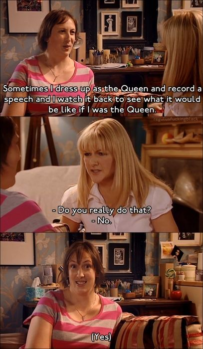 Miranda, talking about the Queen to her best friend Stevie ❤️