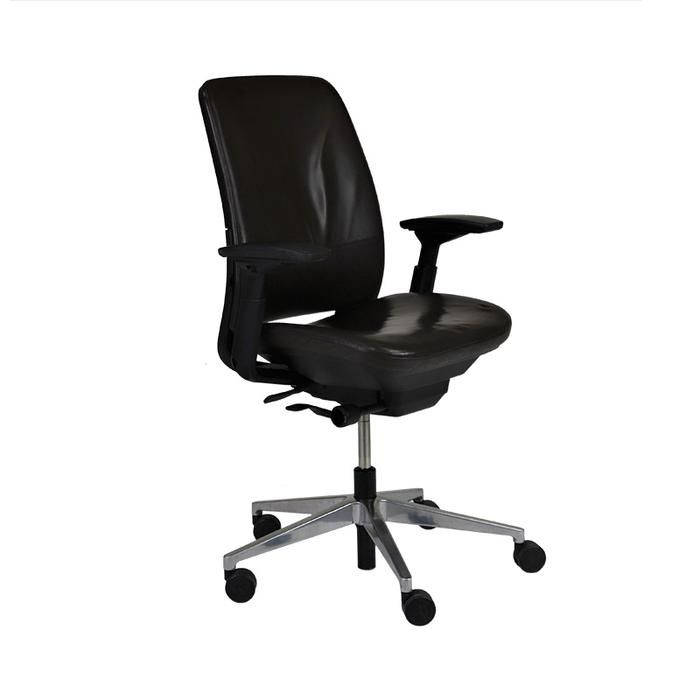 Steelcase Amia In Brown Leather Brown Leather Chair Furniture