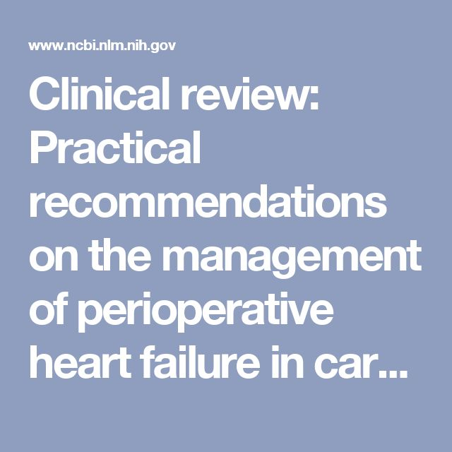 Clinical review: Practical recommendations on the management of perioperative heart failure in cardiac surgery