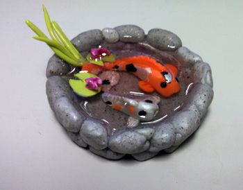 17 best images about polymer clay on pinterest miniature for Clay koi fish