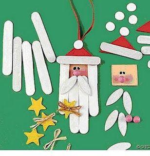 Decoración navideña con palos de helados #Kalise :)   Manualidades para niños