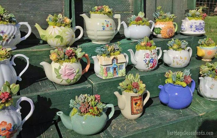Teapot Planters
