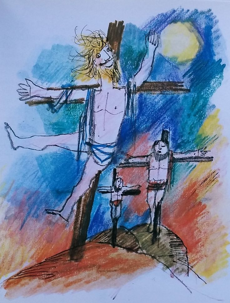 La crocifissione dallo sguardo di Emanuele Luzzati e Enzo Bianchi