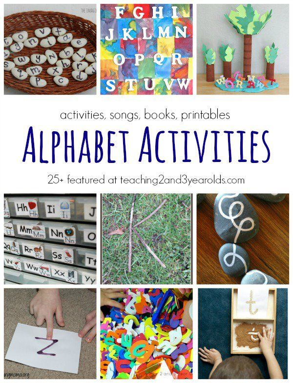 Learn your letters with these fun alphabet activities for preschoolers. Includes abc songs, abc books, and abc printables. Teaching 2 and 3 Year Olds