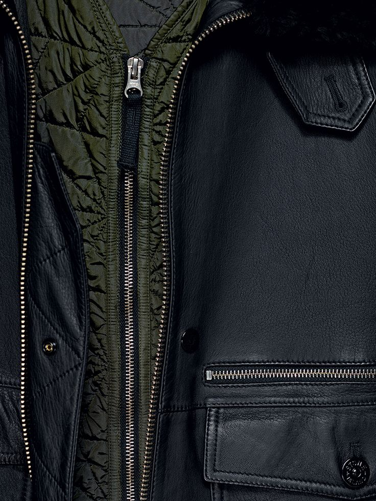 Stone Island Shadow Project_AW '014'015  00121 Flight Jacket_ Leather - Insulator in Quilted PA  www.stoneisland.com