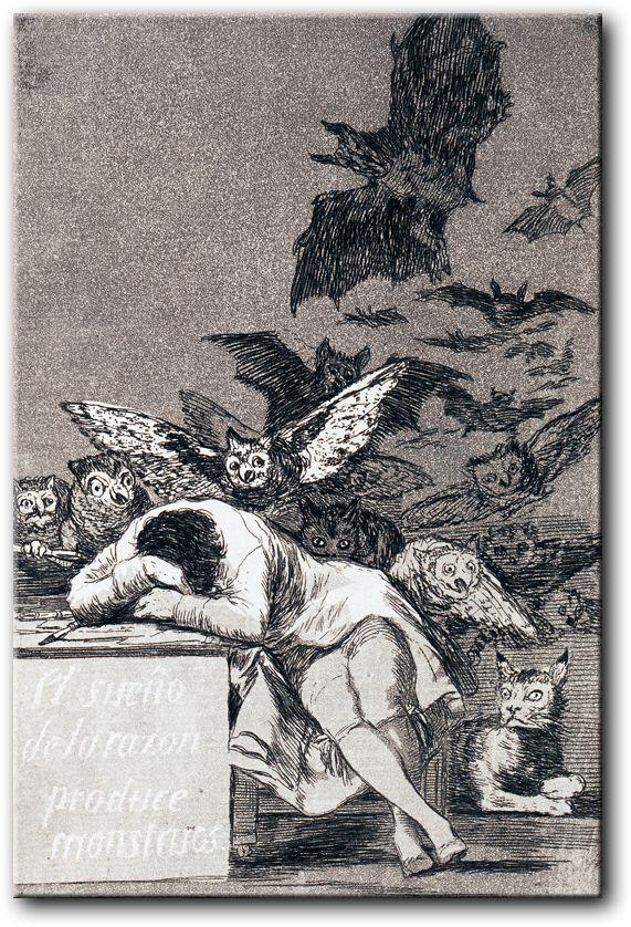 Gdy rozum śpi budzą się demony Francisco Goya