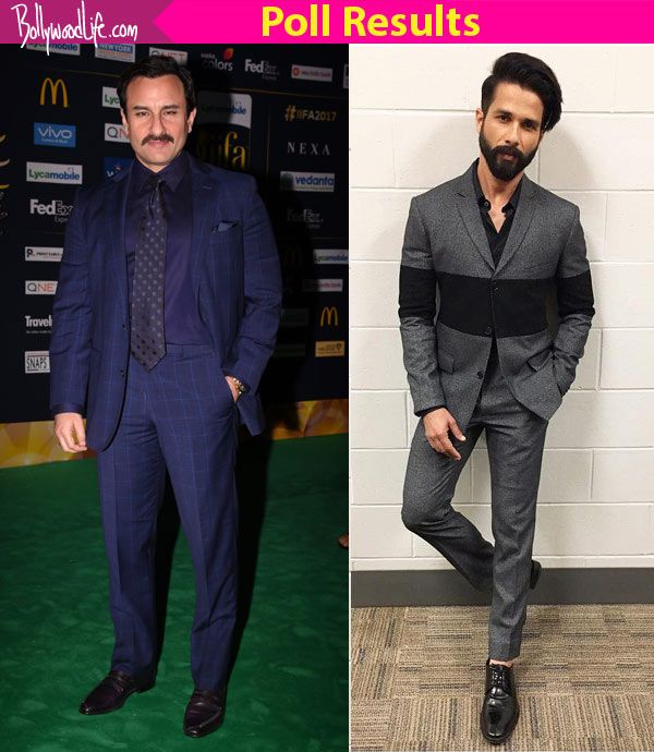 Whoa! Fans prefer Saif Ali Khan's style over Shahid Kapoor in the IIFA best-dressed poll! #FansnStars