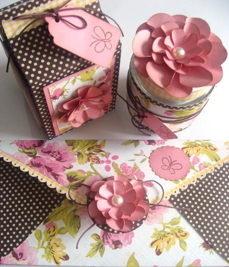 convite envelope, embalagem e pote decorado