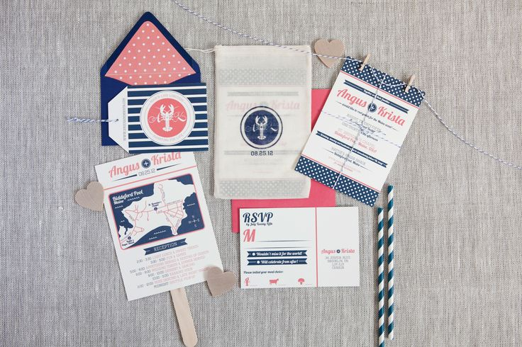 Krista & Angus - Paper & Poste Custom Invitation & Additional Pieces