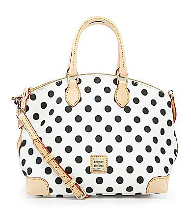 Dooney and Bourke Polka Dot Print Satchel #Dillards