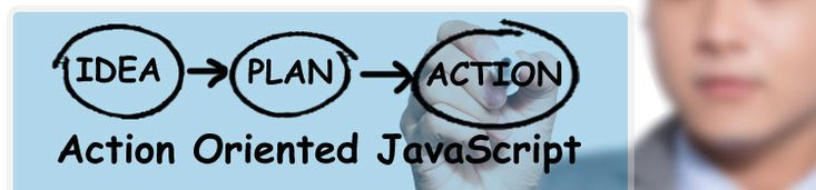 JavaScript is an action-oriented model of the World Wide Web. Elements of a Web page, such as a button or checkbox, may trigger actions or events. When one of these events occurs, a corresponding piece of JavaScript code, usually a JavaScript function, is executed.  And that function, in turn, is composed of various statements which perform calculations, examine or modify the contents of the Web page, or perform other tasks to respond in some way to that event.
