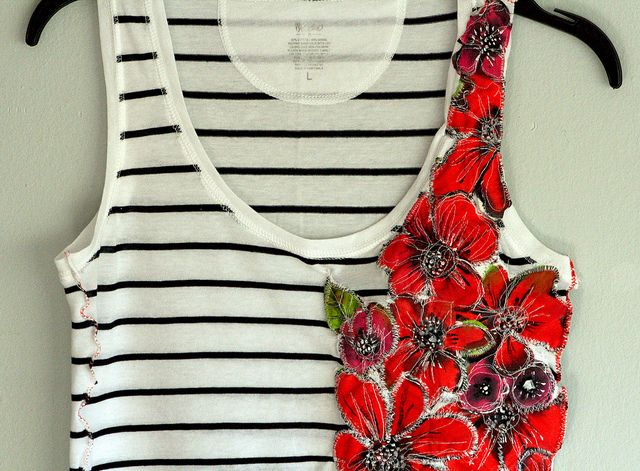 Floral tank top riff...
