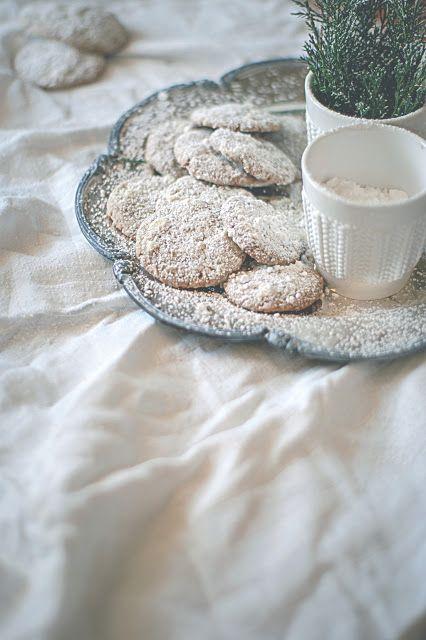 na krachym spodzie: Białe ciasteczka piernikowe