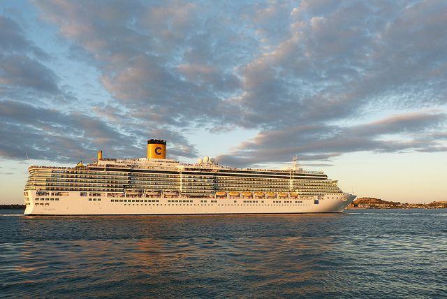 The Costa cruise ship the Deliciosa.