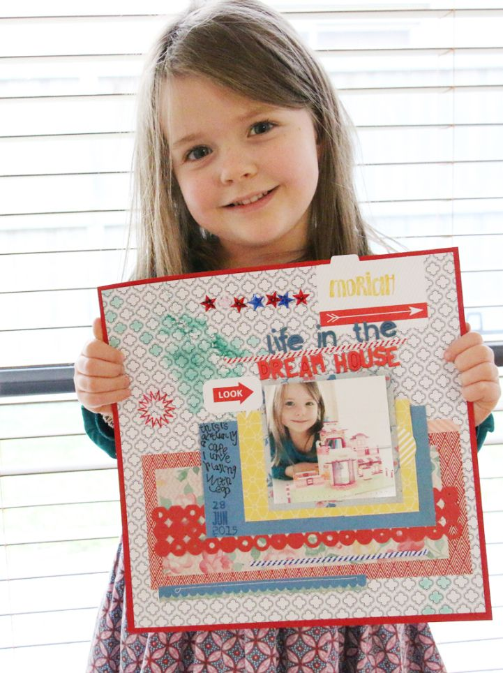 Jot Kid Moriah and her lovely layout for our Mood Board challenge. http://jotmagazine.com/jot-kids-july-2015/