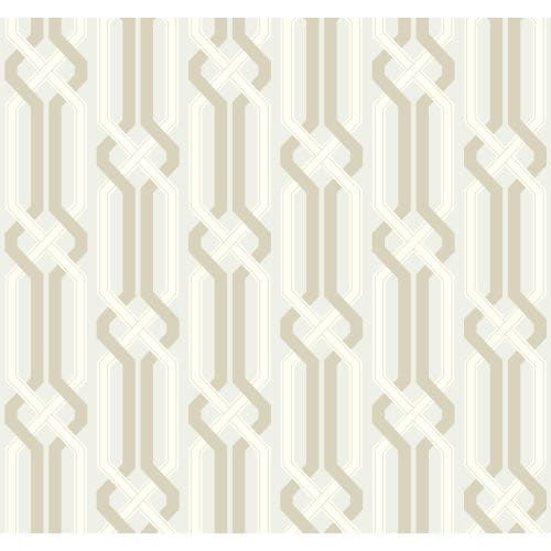 York Wallcoverings EB2022 Candice Olson Vibe Criss Cross Wallpaper, Silver